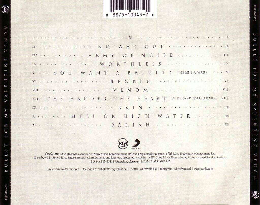 Bullet For My Valentine - Venom CD