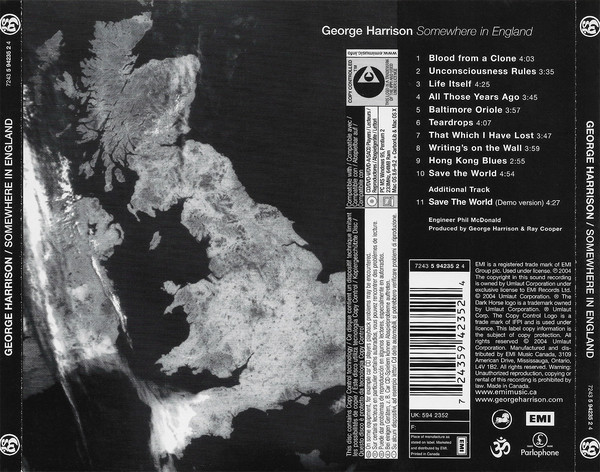 George Harrison - Somewhere In England CD