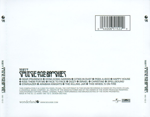 Siouxsie And The Banshees - The Best Of Siouxsie And The Banshees CD