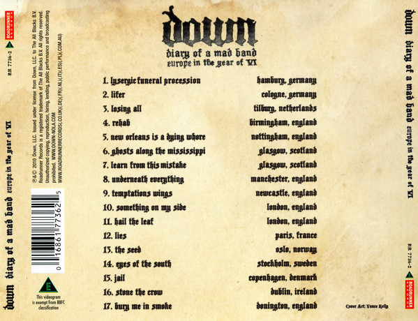 Down (3) – Diary Of A Mad Band: Europe In The Year Of VI