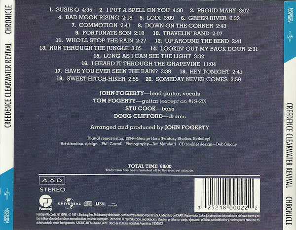 Creedence Clearwater Revival Featuring John Fogerty - Chronicle - The 20 Greatest Hits CD