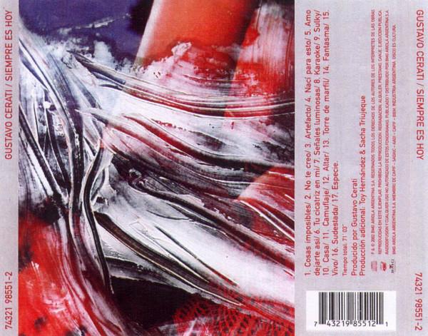 Gustavo Cerati - Siempre Es Hoy CD