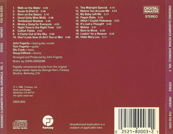 Creedence Clearwater Revival - Chronicle Volume Two CD