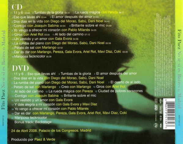 Fito Páez - No Sé Si Es Baires O Madrid CD+DVD