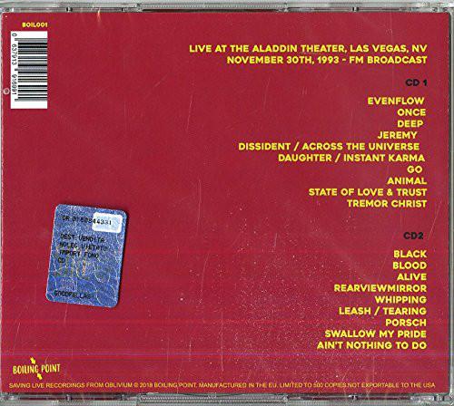 Pearl Jam - At The Aladdin Theater In Las Vegas 1993 2CD