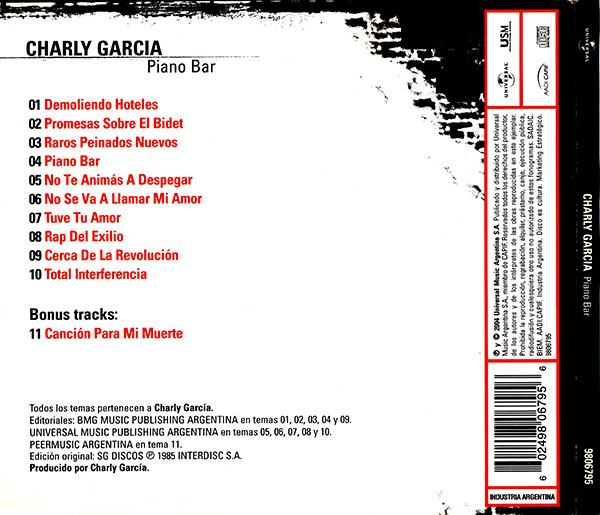 Charly Garcia - Piano Bar CD