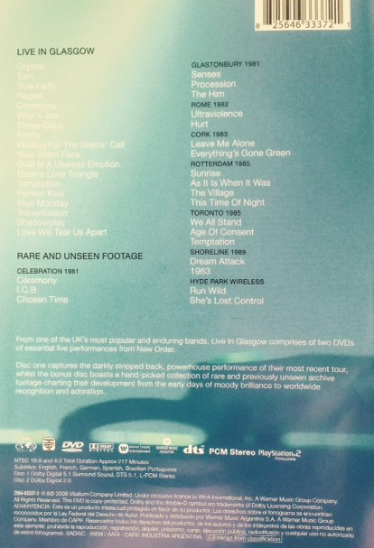 New Order - Live In Glasgow 2DVD