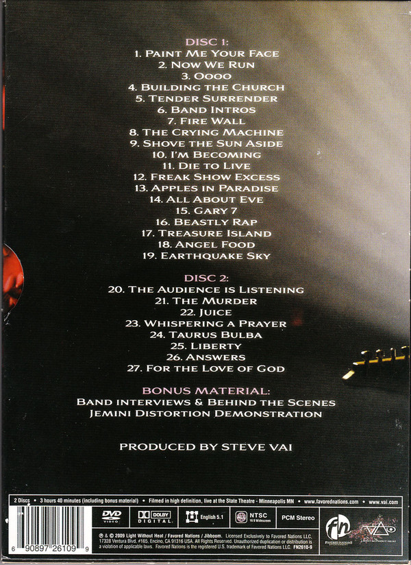 Steve Vai - Where The Wild Things Are DVD