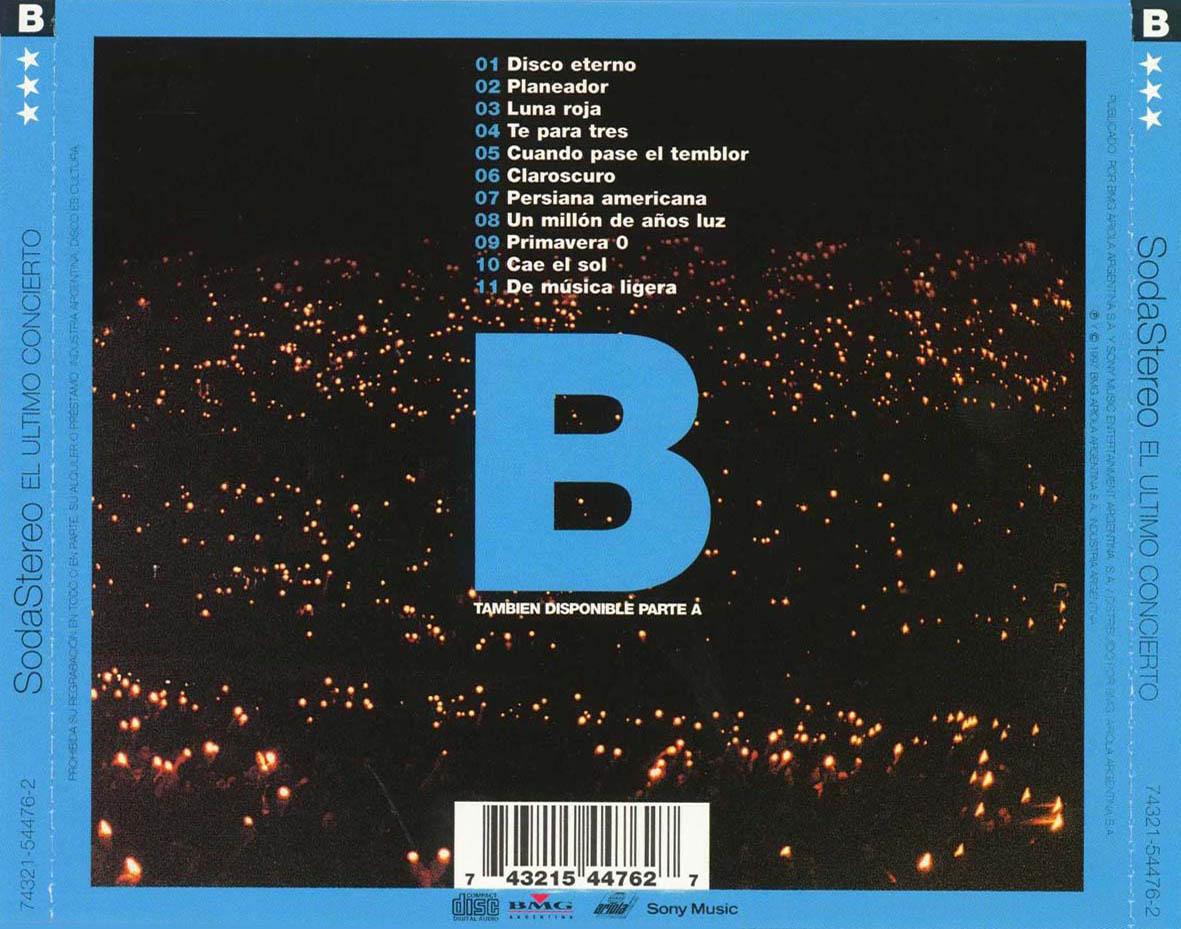 Soda Stereo - El Último Concierto B CD