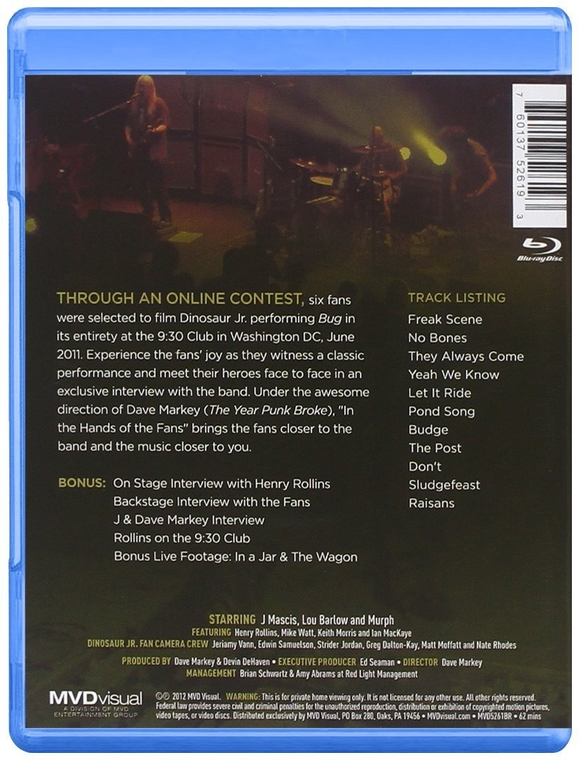 Dinosaur Jr. - Bug Live At 9:30 Club: In The Hands Of The Fans BLURAY