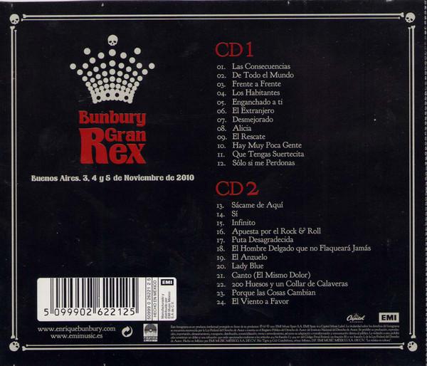 Enrique Bunbury - Gran Rex (Buenos Aires. 3, 4 Y 5 De Noviembre De 2010) 2CDs