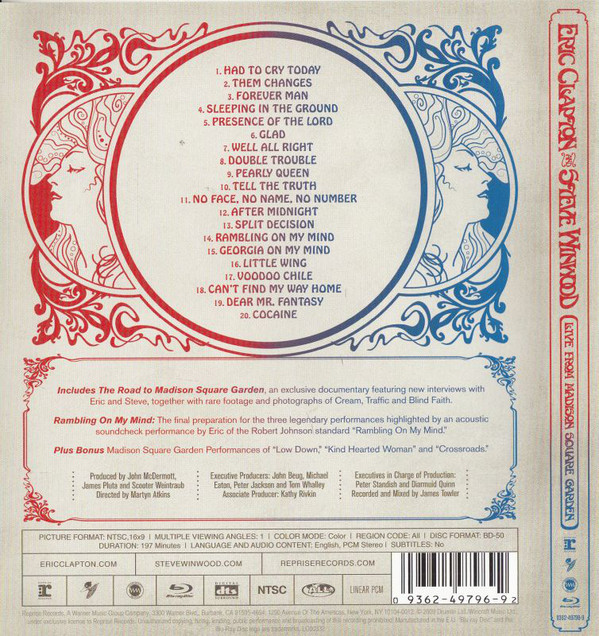 Eric Clapton And Steve Winwood - Live From Madison Square Garden BLURAY