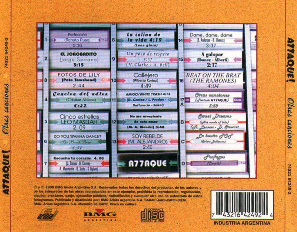 A77aque - Otras Canciones CD (Attaque 77)