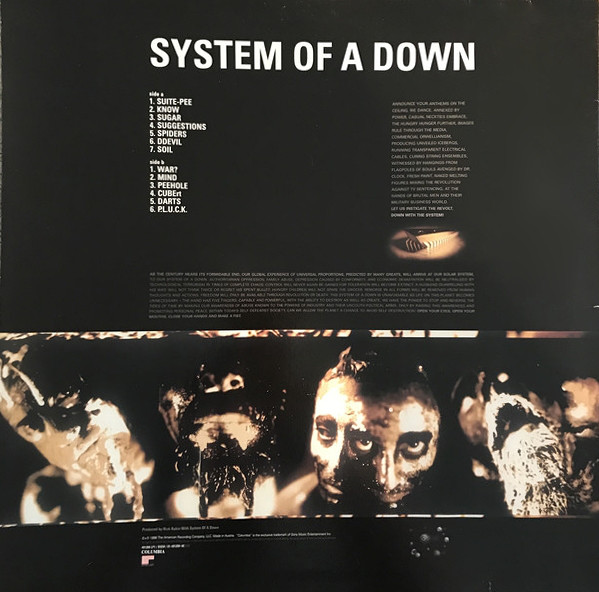 System Of A Down - System Of A Down LP RED - Bootleg
