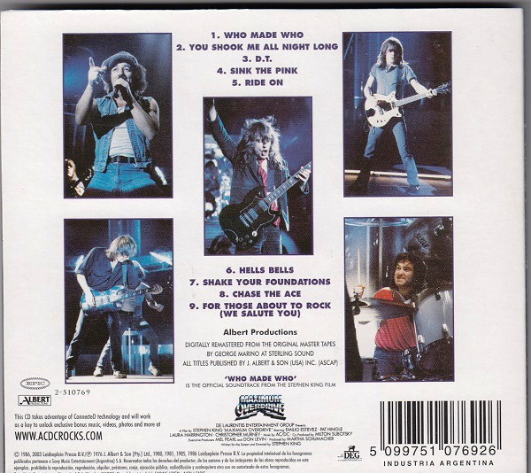 AC/DC - Who Made Who CD