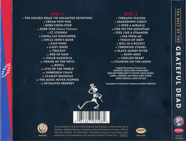 The Grateful Dead - The Best Of The Grateful Dead 2CDs