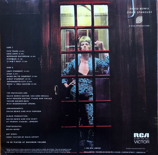 David Bowie - The Rise And Fall Of Ziggy Stardust And The Spiders From Mars LP RED - Bootleg