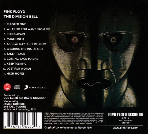 Pink Floyd - The Division Bell CD