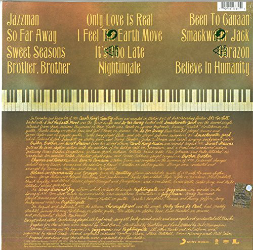 Carole King – Her Greatest Hits (Songs Of Long Ago) LP