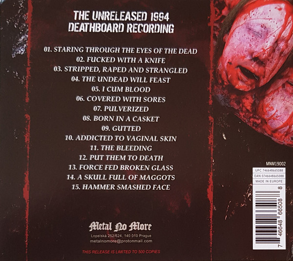 Cannibal Corpse - The Unreleased 1994 Deathboard Recording CD