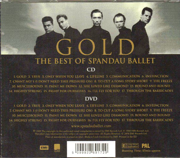 Spandau Ballet - Gold - The Best Of Spandau Ballet CD+DVD