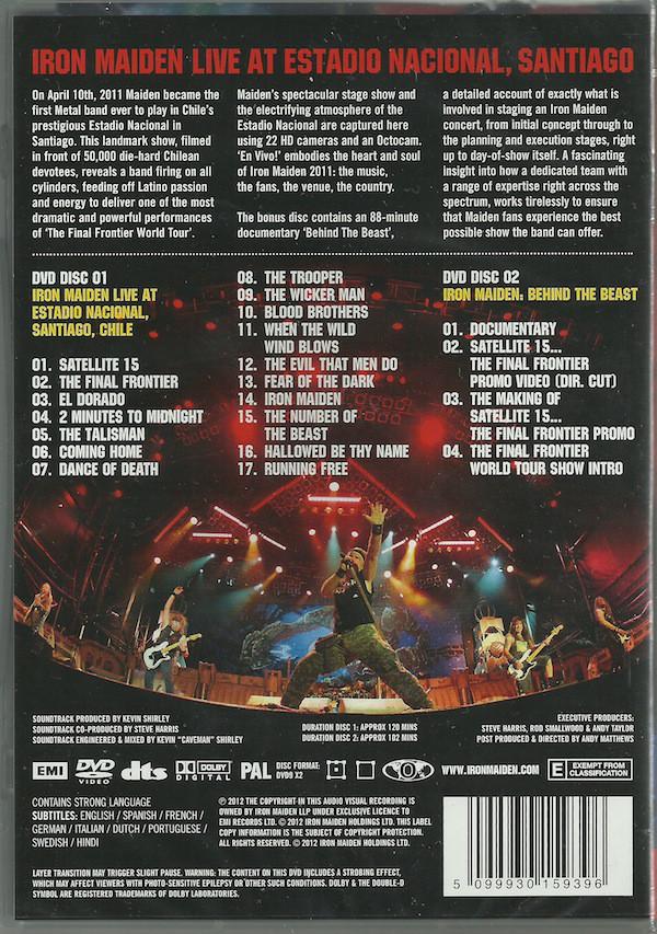 Iron Maiden - En Vivo! (Live At Estadio Nacional, Santiago) 2DVDs