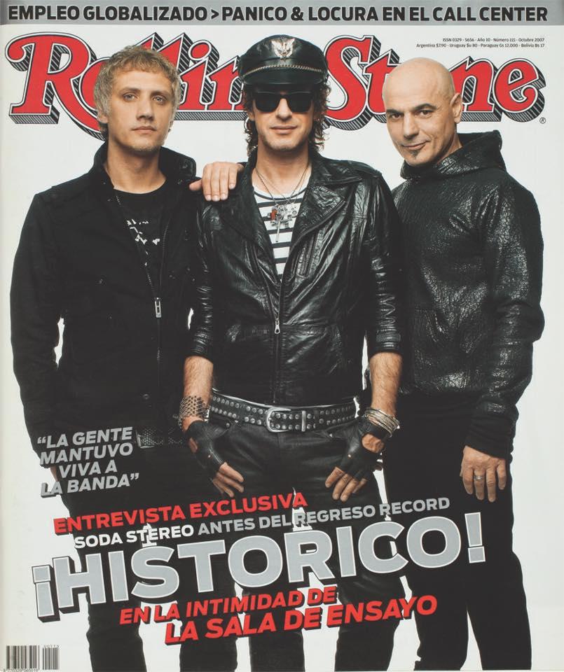 Revista Regreso de Soda Stereo 2007 Rolling Stone