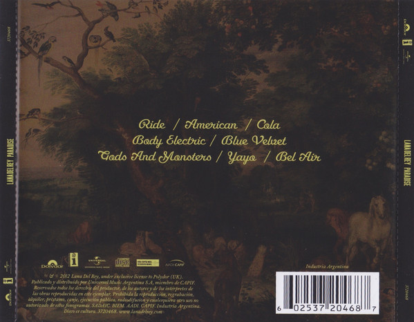 Lana Del Rey - Paradise CD