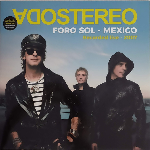 Soda Stereo - Foro Sol - Mexico LP Bootleg Amarillo