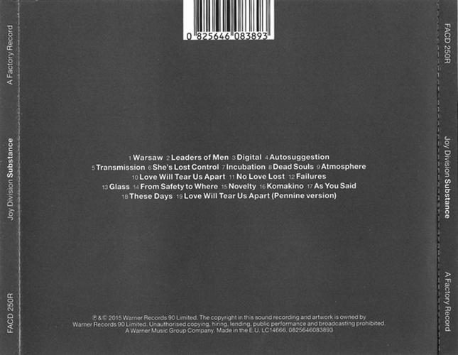 Joy Division - Substance CD