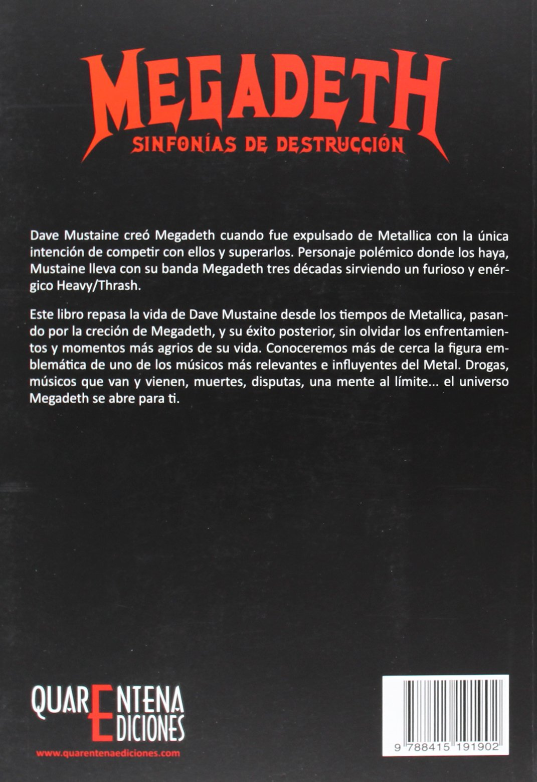 """Megadeth: Sinfonías de Destrucción Alfred """"Häwkmoon"""" Carmona y Sara García García LIBRO"""