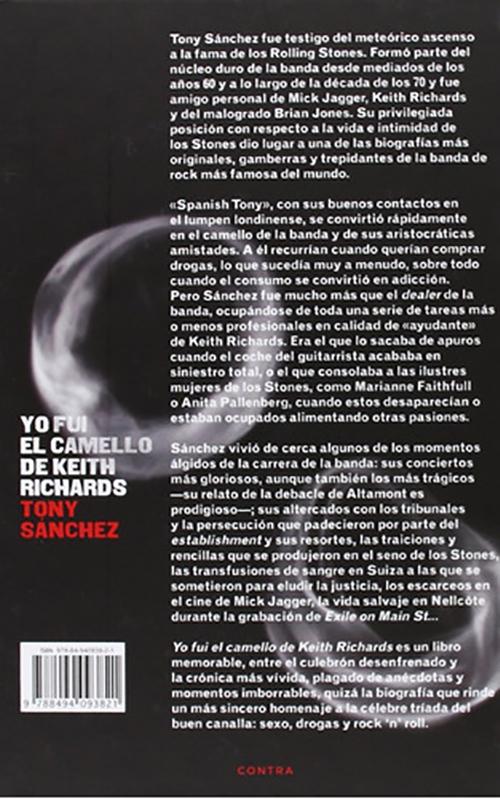 Yo fui el Camello de Keith Richards, Tony Sanchez LIBRO