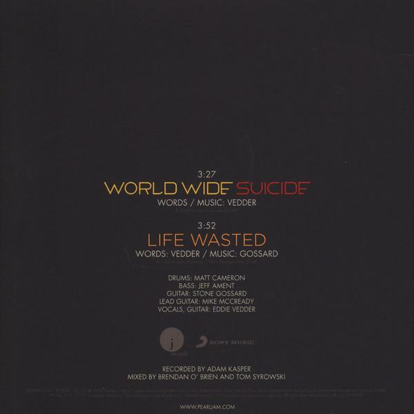 """Pearl Jam - World Wide Suicide SINGLE 7"""""""