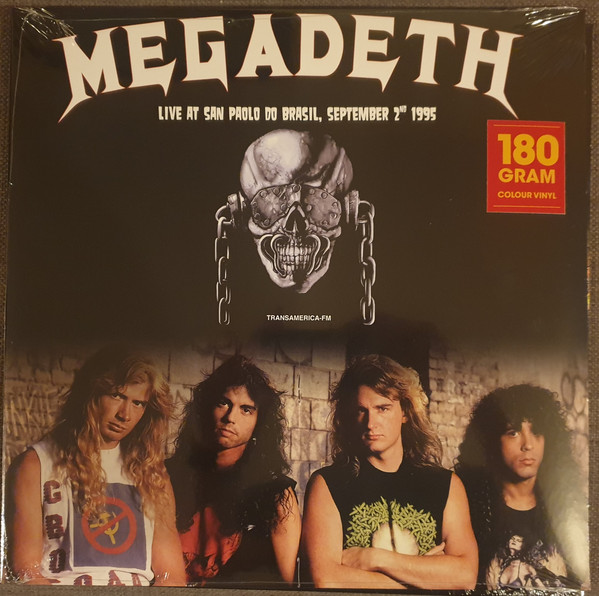 Megadeth - Live At San Paolo Do Brasil, September 2nd 1995 LP Bootleg White