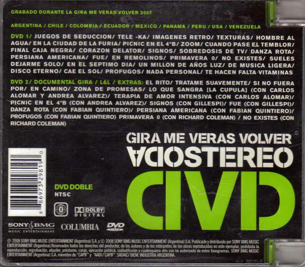 Soda Stereo - Gira Me Veras Volver 2DVDs