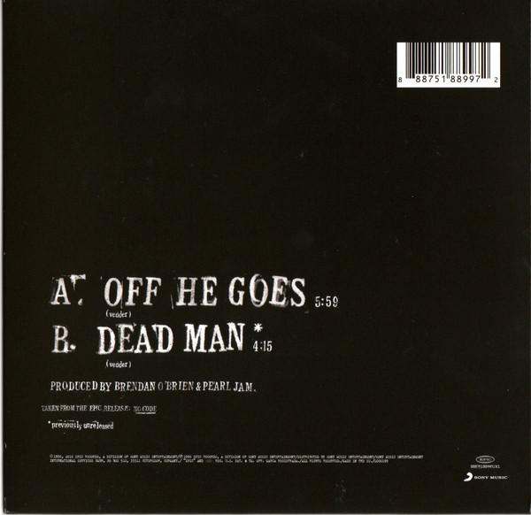 "Pearl Jam - Off He Goes SINGLE 7"""