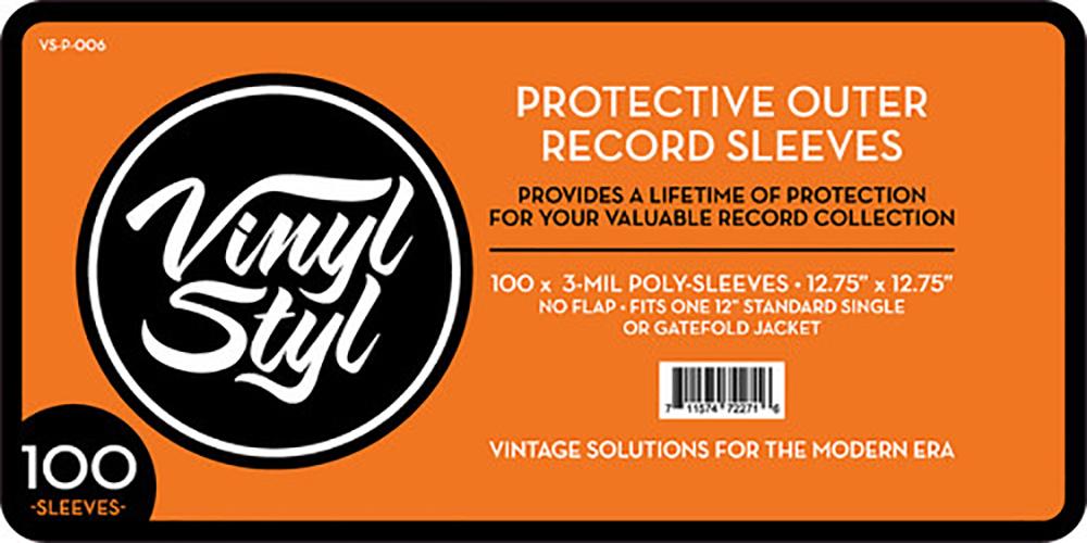100 Fundas exteriores protectoras para discos de vinilo Vinyl Styl