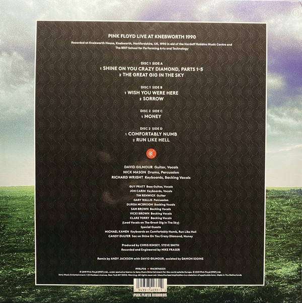 Pink Floyd - Live At Knebworth 1990 2LPs