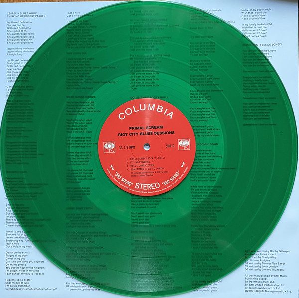 Primal Scream - Riot City Blues Sessions 2LPs Red & Green