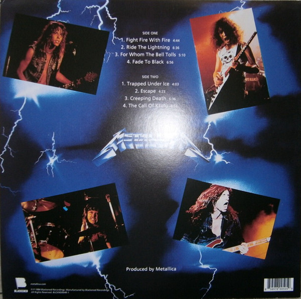Metallica - Ride The Lightning LP