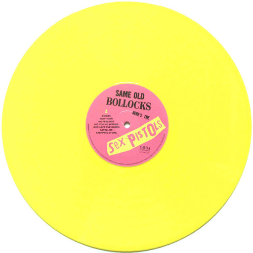 Sex Pistols - Same Old Bollocks Here's The Sex Pistols LP Bootleg Yellow