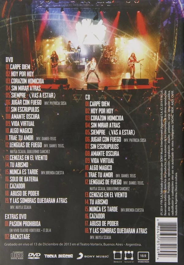 Barilari - En Vivo 13.12.13 1DVD+1CD