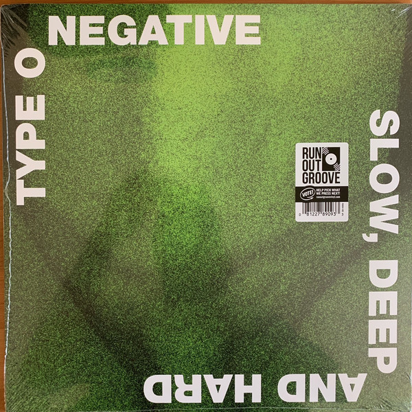 Type O Negative - Slow, Deep And Hard 2LPs Green Black Mixed