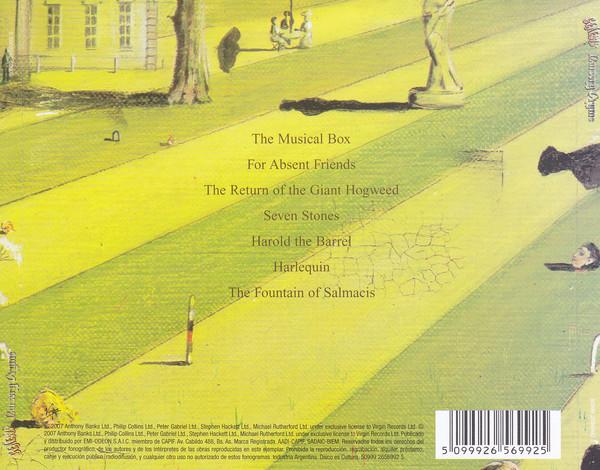 Genesis - Nursery Cryme CD