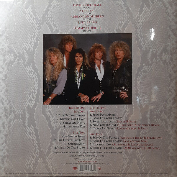 Whitesnake - Slip Of The Tongue 2LPs