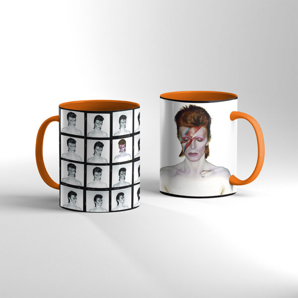 David Bowie TAZA Color Naranja