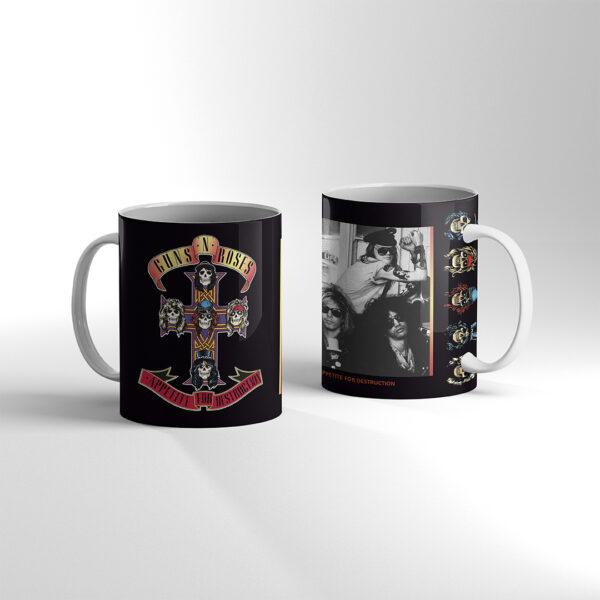 Guns N' Roses - Appetite for Destruction TAZA Blanca